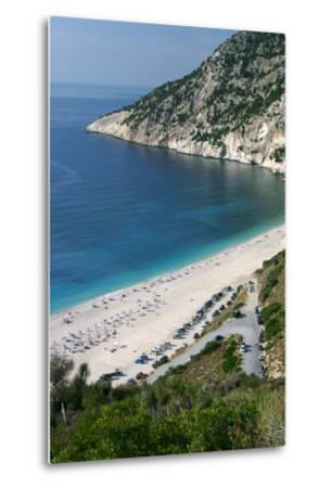 Mirtos Beach, Kefalonia, Greece-Peter Thompson-Metal Print