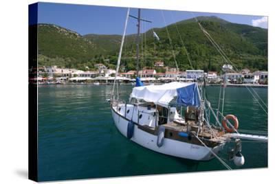 Yacht, Sami, Kefalonia, Greece-Peter Thompson-Stretched Canvas Print