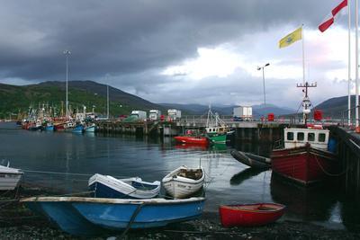Ullapool Harbour on a Stormy Evening, Highland, Scotland-Peter Thompson-Premium Photographic Print