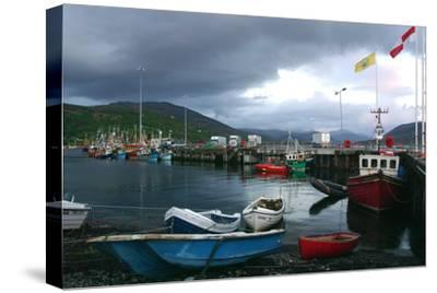 Ullapool Harbour on a Stormy Evening, Highland, Scotland-Peter Thompson-Stretched Canvas Print