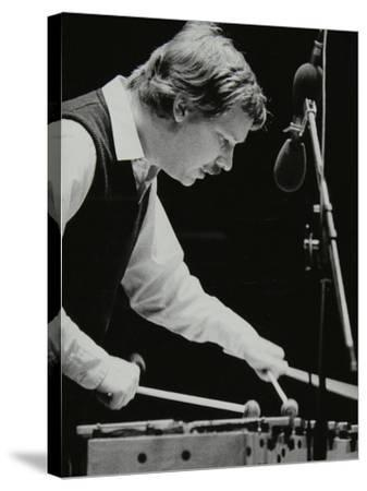 Gary Burton Playing the Vibraphone at the Forum Theatre, Hatfield, Hertfordshire, 25 November 1980-Denis Williams-Stretched Canvas Print