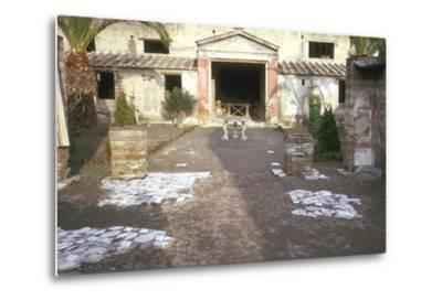 Courtyard at the Roman Villa, the House of the Stags, Herculaneum, Italy-CM Dixon-Metal Print