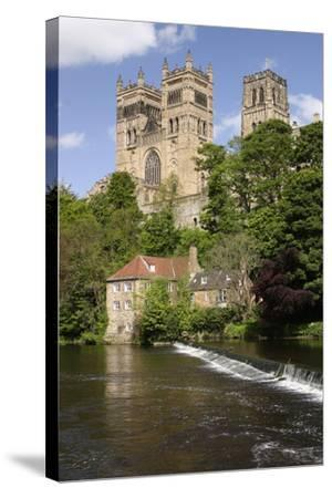Durham Cathedral and Mill-Peter Thompson-Stretched Canvas Print