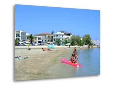 Beach, Rethymnon, Crete, Greece-Peter Thompson-Metal Print