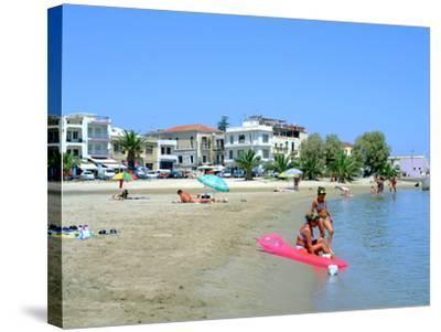 Beach, Rethymnon, Crete, Greece-Peter Thompson-Stretched Canvas Print