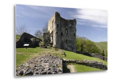 Peveril Castle, Castleton, Derbyshire-Peter Thompson-Metal Print