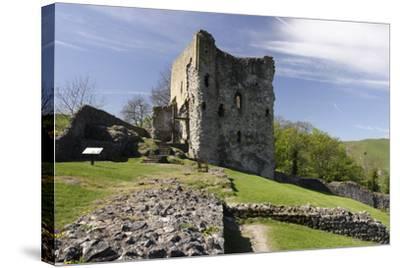 Peveril Castle, Castleton, Derbyshire-Peter Thompson-Stretched Canvas Print
