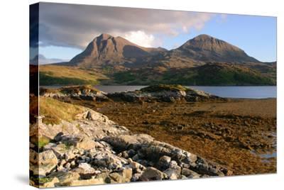 Sail Gharbh and Sail Gorm, Quinag, Highland, Scotland-Peter Thompson-Stretched Canvas Print