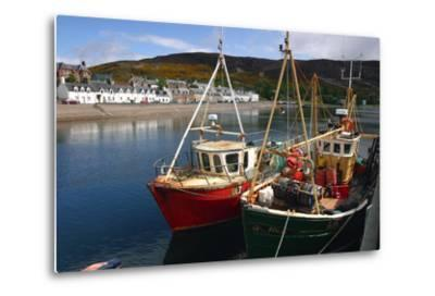 Fishing Boats, Ullapool Harbour, Highland, Scotland-Peter Thompson-Metal Print