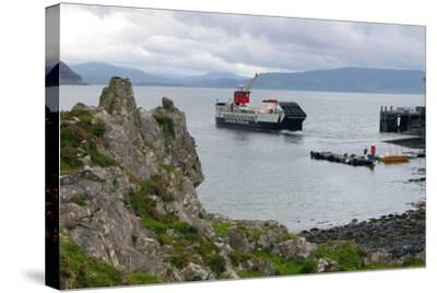 Tobermory Ferry Leaving Kinchoan, Ardnamurchan Peninsula, Highland, Scotland-Peter Thompson-Stretched Canvas Print