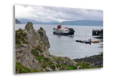Tobermory Ferry Leaving Kinchoan, Ardnamurchan Peninsula, Highland, Scotland-Peter Thompson-Metal Print