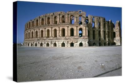 Exterior of a Roman Colosseum, 3rd Century-CM Dixon-Stretched Canvas Print