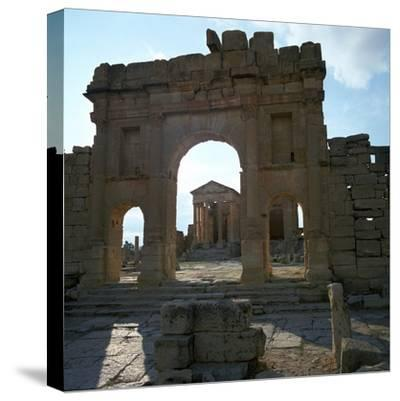 Roman Forum in Suffetula, Tunisia, 2nd Century-CM Dixon-Stretched Canvas Print