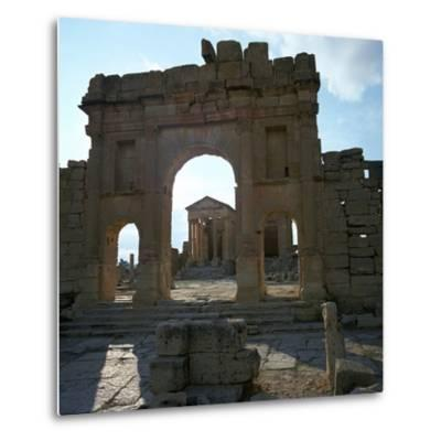 Roman Forum in Suffetula, Tunisia, 2nd Century-CM Dixon-Metal Print