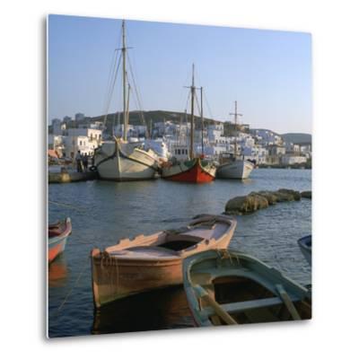 Noussa Harbour in the Evening-CM Dixon-Metal Print