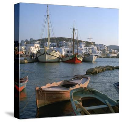 Noussa Harbour in the Evening-CM Dixon-Stretched Canvas Print