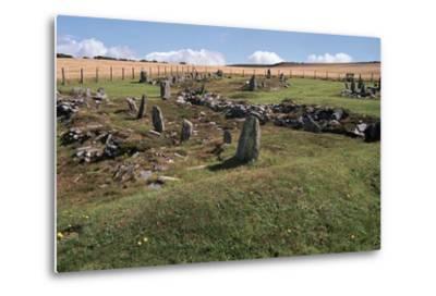 Braiid Norse Site on the Isle of Man-CM Dixon-Metal Print