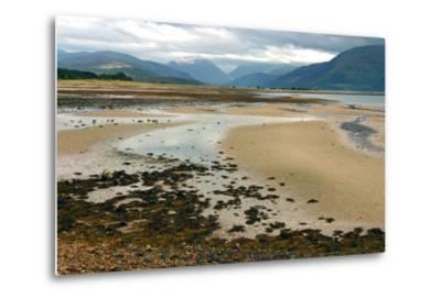 Glencoe from across Loch Linnhe, Highland, Scotland-Peter Thompson-Metal Print