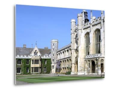 Inside the Great Court, Trinity College, Cambridge, Cambridgeshire-Peter Thompson-Metal Print