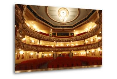 Auditorium of the Grand Theatre, Swansea, South Wales, 2010-Peter Thompson-Metal Print