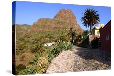 Street in Masca, Tenerife, Canary Islands, 2007-Peter Thompson-Stretched Canvas Print
