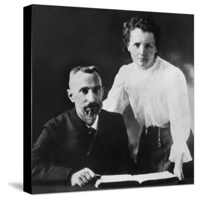 Pierre Curie and Marie Sklodowska Curie (1867-1934), C. 1903--Stretched Canvas Print
