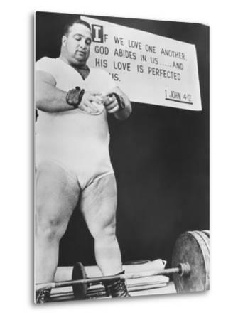 Paul Anderson, Performed at Weight Lifting and Strength Exhibitions--Metal Print