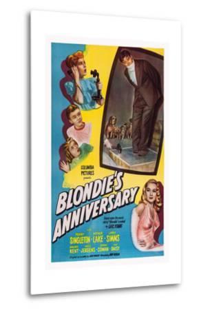 Blonde's Anniversary--Metal Print