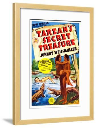 Tarzan's Secret Treasure--Framed Giclee Print