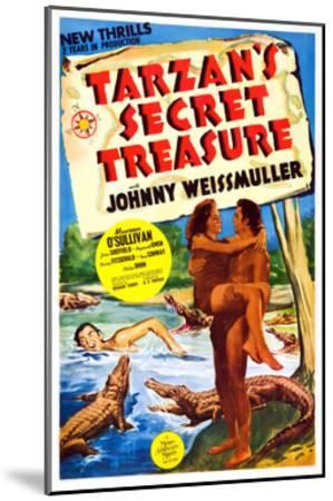 Tarzan's Secret Treasure--Mounted Giclee Print