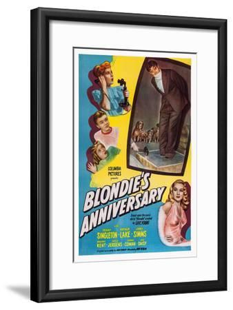 Blonde's Anniversary--Framed Giclee Print