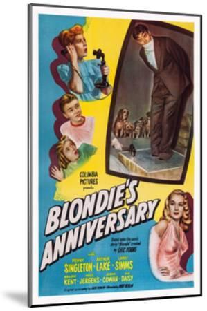 Blonde's Anniversary--Mounted Giclee Print
