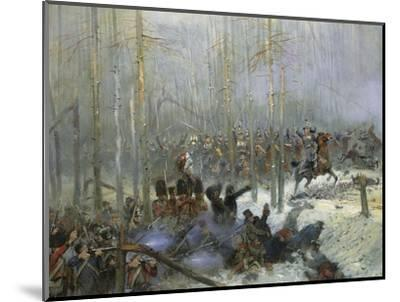 Cuirassier of Colonel Dubois Charging During Battle of Berezina, Nov. 28, 1812-Edouard Detaille-Mounted Giclee Print