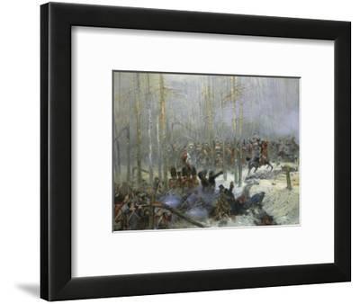 Cuirassier of Colonel Dubois Charging During Battle of Berezina, Nov. 28, 1812-Edouard Detaille-Framed Giclee Print