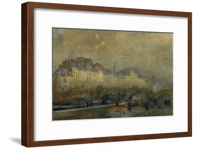 Winter Sun at Paris-Albert Lebourg-Framed Giclee Print