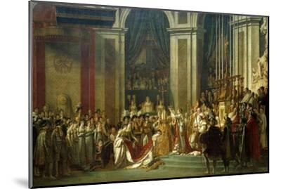 Coronation of Empress Josephine on Dec. 2, 1804-Jacques Louis David-Mounted Giclee Print