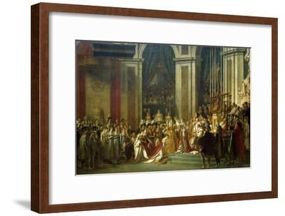 Coronation of Empress Josephine on Dec. 2, 1804-Jacques Louis David-Framed Giclee Print
