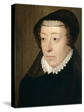 Catherine De Medicis, Queen of France-Francois Clouet-Stretched Canvas Print