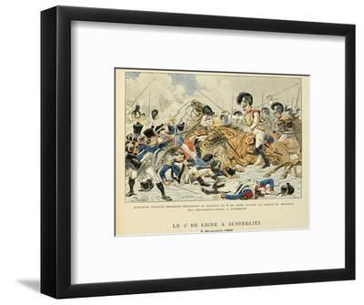 4th Line Infantry in Austerlitz, Dec. 2, 1805, from the Book 'Les Heros Du Siecle'-Louis Bombled-Framed Giclee Print