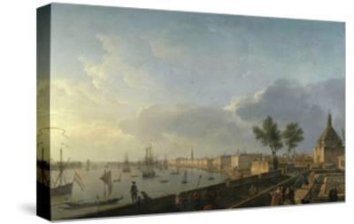 Bordeaux Harbor and the City Walls-Claude Joseph Vernet-Stretched Canvas Print
