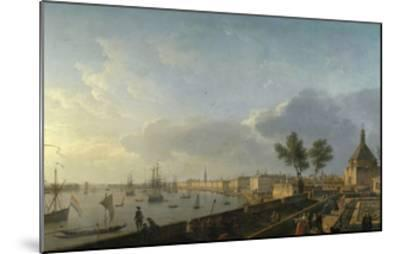 Bordeaux Harbor and the City Walls-Claude Joseph Vernet-Mounted Giclee Print