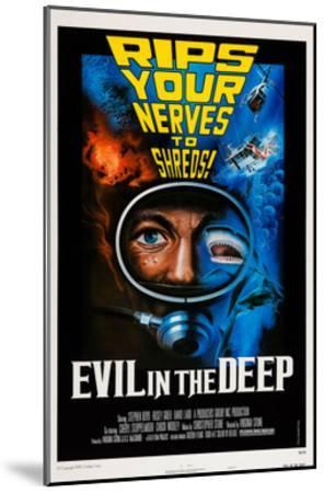 Evil in the Deep--Mounted Giclee Print