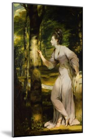 Portrait of Joanna Lloyd of Maryland-Joshua Reynolds-Mounted Giclee Print