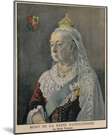 Elderly British Queen Victoria. French Engraving Published on Her Death on Feb. 3, 1901--Mounted Giclee Print