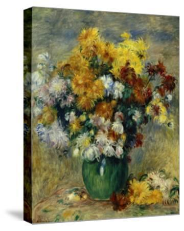 Bunch of Chrysanthemums-Pierre-Auguste Renoir-Stretched Canvas Print