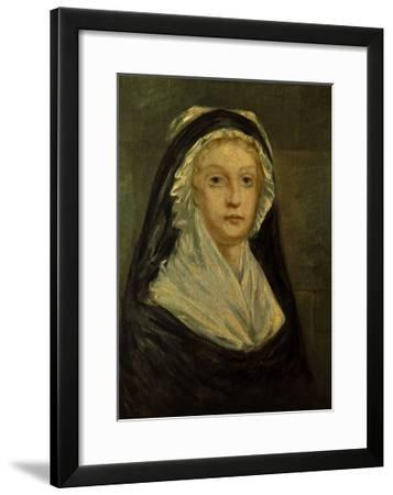 Queen Marie Antoinette as a Prisoner at the Temple in 1793-Sophie Prieur-Framed Giclee Print