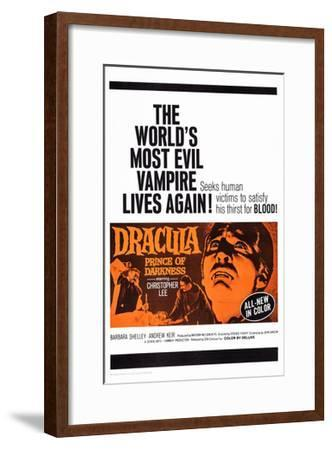Dracula: Prince of Darkness--Framed Giclee Print