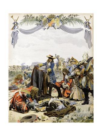 The Death of Henri De La Tour D'Auvergne, Vicomte De Turenne-Maurice Leloir-Framed Giclee Print