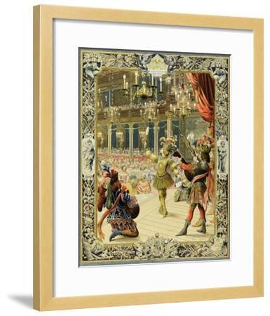 The Night Ballet, Louis XIV Dancing as Sun King-Maurice Leloir-Framed Giclee Print