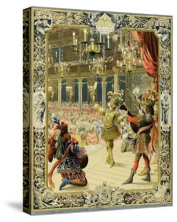 The Night Ballet, Louis XIV Dancing as Sun King-Maurice Leloir-Stretched Canvas Print